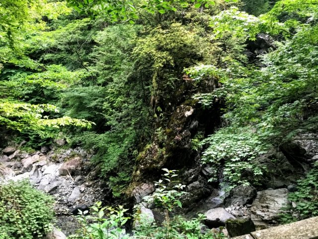 小秀山 二の谷登山道 屏風岩