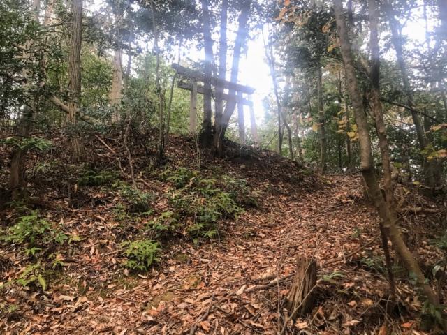 如来ヶ岳 登山道 神社
