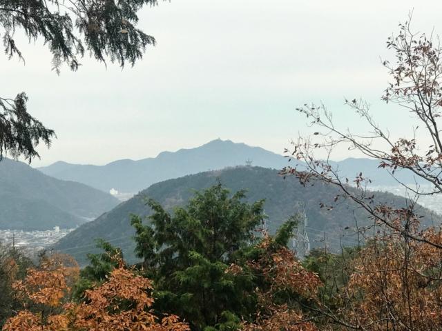 如来ヶ岳 頂上から眉山・金華山