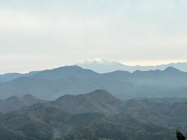 如来ヶ岳 頂上から御嶽山