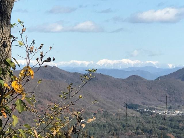 尾崎権現山から中央アルプス