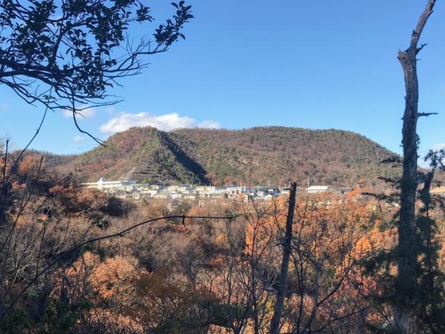 尾崎権現山 墓地登山道から尾崎三峰山