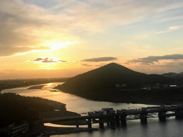 犬山城から伊木山