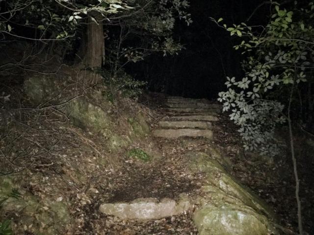 三上山 表登山道 石段