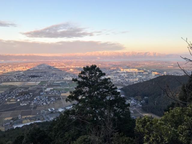 三上山 影富士