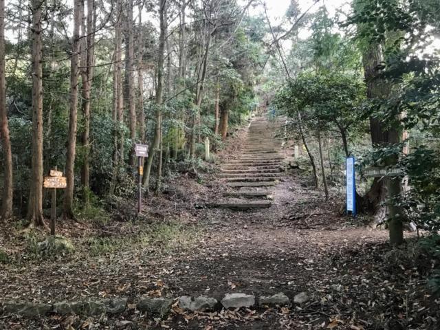 三上山 表登山道 中段の道分岐