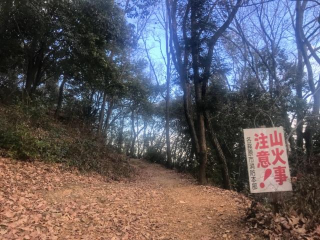 三井山 南回り 登山道