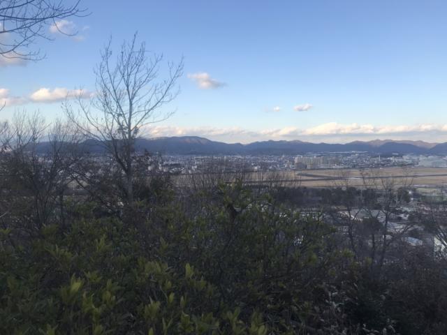 三井山 山頂から各務原アルプス