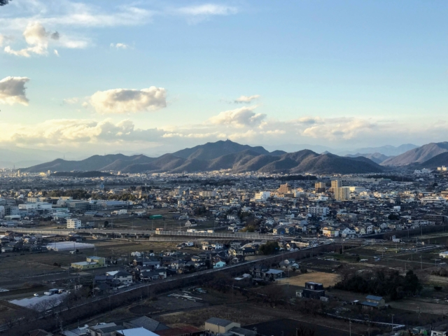三井山 山頂から金華山