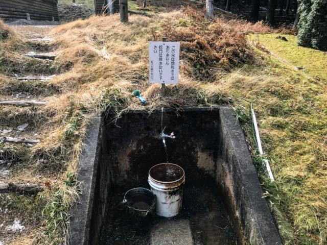 経ヶ峰 笹子谷ルート 山小屋 水場