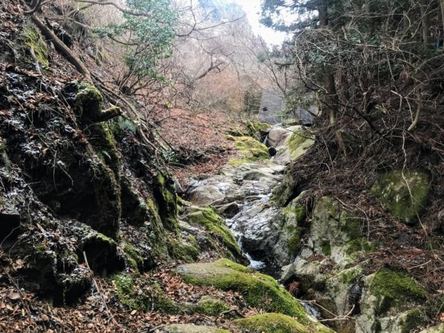 経ヶ峰 笹子谷ルート 渡渉