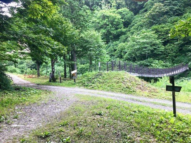 三ノ峰~別山 上小池ルート 自然研究路 岩場・石段分岐