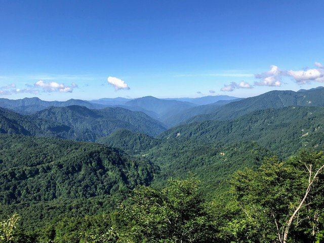 三ノ峰~別山 上小池ルート 六本檜から荒島岳