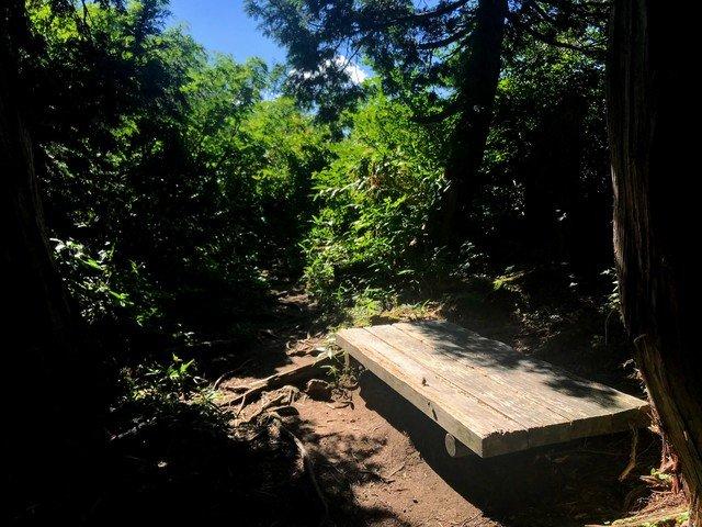 三ノ峰~別山 上小池ルート ベンチ