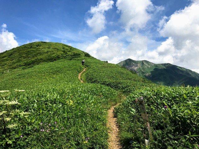 三ノ峰~別山 上小池ルート 三ノ峰避難小屋から別山